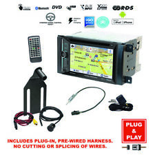 GPS Navigation Bluetooth USB Stereo+Backup Camera+Jeep Wrangler Radio Dash Kit