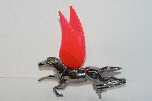 Vintage~SILVER Metal~PEGASUS~Flying Horse~MOUNTED~Car AUTO~Hood Ornament?~WINGS