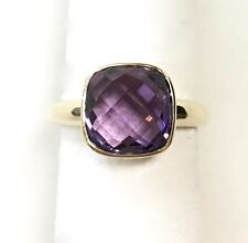 14k Yellow Gold Ring with Amethyst   (Size: 7)