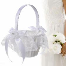 Bridesmaid Flower Girl Basket Petals Storage Wedding Party Banquet Decor White