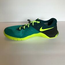 Nike Flywire Sneakers Shoes Mens Size 10 Teal Yellow