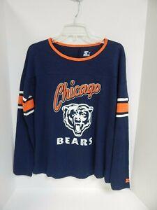 Chicago Bears Women's Tshirt Scoop neck Starter Sample Size Medium