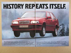 1993 Volvo 850 GLT red sedan photo cutaway diagram specs vintage print Ad