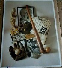 """MLB ~ """"Ty Cobb ~ The Georgia Peach"""" First Edition Print (1993) + C.A. #8"""