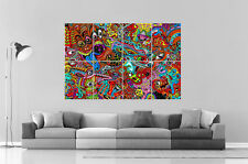 PSYCHEDELIC VISUEL DESIGN Wall Art Poster Grand format A0 Large Print
