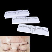 Disposable Eyebrow Stencil  Microblading Measure Tattoo Ruler Make Up Tool TTM