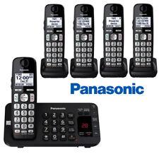 Panasonic 5 Cordless Handsets Phone System Enhanced Noise Reduction KX-TGE445B