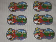 6 HELLO KITTY GOLDEN GATE BRIDGE SAN FRANCISCO STICKERS SANRIO LICENSED NEW!!
