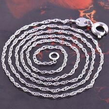 Lovely 9K White Gold Filled Womens Wave Chain Necklace,45cm,Z1504