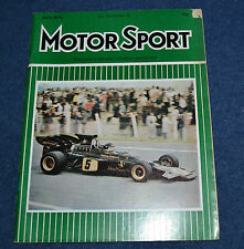 Motor Sport June 1972 Spanish Monaco GPs, BMW 2500, Monza 1000kms