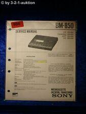 Sony Service Manual BM 850 (#0904)