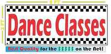 DANCE CLASSES Full Color Banner Sign 4 Dance Studio Hip-Hop Tap Ballet Ballroom