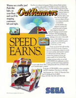 OUTRUNNERS SEGA ORIGINAL NOS VIDEO ARCADE GAME ADVERTISING SALES FLYER BROCHURE