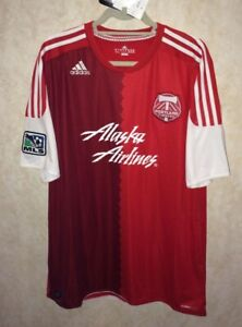 ADIDAS MLS Portland Timbers Red Away Replica S/S Soccer Jersey NWT NEW Mens XL