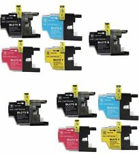 NON-OEM 10 INK LC-75 LC-71 BROTHER BK LC-75C LC-75M LC-75Y MFC-J280W MFC-425W
