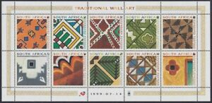 SOUTH AFRICA - 1999 Traditional Wall Art sheetlet (MNH)