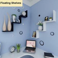 Floating W-Shaped Shelves Bookshelf Home Decor Wall Shelf Storage Living Room