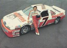 1991 Alan Kulwicki Hooters Ford Thunderbird NASCAR Winston Cup postcard CREASED