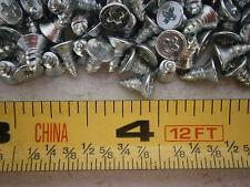 Tapping Screws M2.9 x 6.5 Phillips Flat Head Type Ab Steel Zinc Lot of 100 #3669