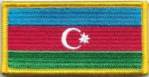 Color Azerbaijan Azerbaijani Flag Patch VELCRO BRAND Hook Fastener Compatible