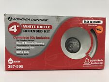 Lithonia Lighting 4 in. Matte White Recessed Baffle Lighting Kit