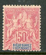 Diego Suarez 1892 French Colony 50¢ Scott #35 Mint H726