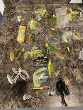 Large Lot Of 33 Spinnerbait Buzzbait Bass Fishing Lures Stanley Strike King Misc