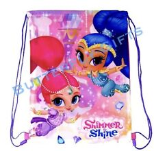 Shimmer and Shine Gym Bag Swim PE School Girls String Gift Pink Purple Nick