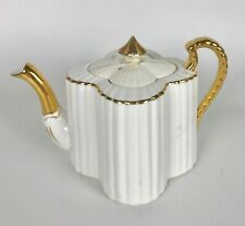 Wileman Alexandra Shape Rd 60650 White & Gold Teapot Pot Lid Set