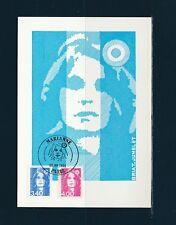 carte  1er jour  marianne  3f40  bleu et 4f  rose     1991