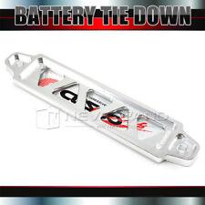 Universal Billet Aluminum Battery Tie Down Bar Stay Bracket Car Silver 19.5cm
