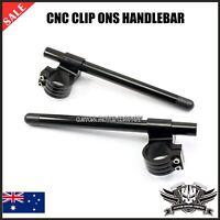 "2X 1"" Black CNC Clip On Riser Handle bar Ducati Monster 620 750 900 1000 SS 50mm"