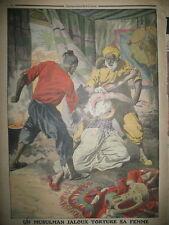 ALGERIE MUSULMAN TORTURE SA FEMME TRANSATLANTIQUE NEW-YORK LE PETIT JOURNAL 1912
