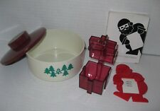 TUPPERWARE ~ LOT OF CHRISTMAS ITEMS Santa Magnet Candy Dish Gift Box (used)