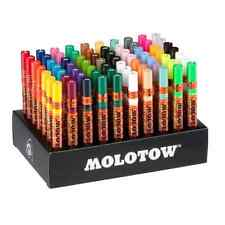 MOLOTOW ONE4ALL 127HS MARKERS - FULL SET - 70 x PAINT MARKER PENS IN CARD STAND