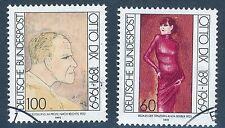 1572 1573  gestempelt  Otto Dix  Bund 1991