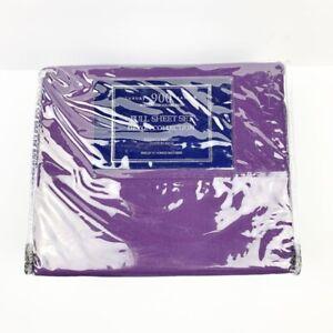 Luxury Sateen Devon Collection Full Sheet Set 900 Thread Count Purple 81x96 New