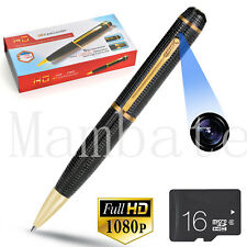 1080p FULL HD Spy REC PEN USB Cam Nanny Video/Voice Hidden Recorder Camera 16GB
