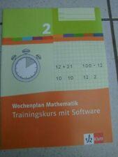 Grundschule, Wochenplan Mathematik 2, Trainingskurs mit Software, Klett