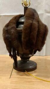 """Vintage Mink Fur Stole / Wrap, 3 Pelts - 38 1'2"""" long"""