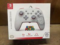 PowerA - Enhanced Wired Controller for Nintendo Switch - Mario White - New!