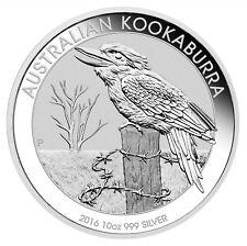 2016 10oz Silver Kookaburra .999 Fine BU
