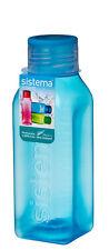 Sistema Cuadrado 475Ml Botella Azul Agua Jugo Colegio Sport Gym sin Bpa Nuevo