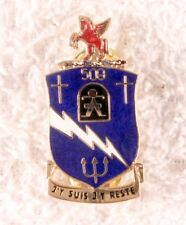 Army DI Pin: 509th Airborne Infantry Regiment, Coat-of-Arms - modern