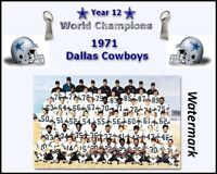 1971 Dallas Cowboys Super Bowl Champion Color Team Picture  8 X 10 Photo Pic