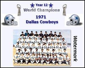 1971 Dallas Cowboys Super Bowl Champion Color Team Picture  8 X 10 Photo Pic