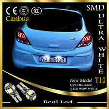 2x NUMBER PLATE LIGHT T10 5SMD LED WHITE XENON FREE ERROR OPEL CORSA D 2006-2014