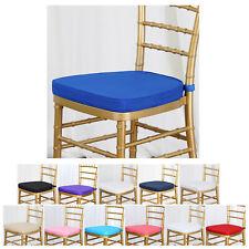 """Chiavari Chair Cushion Chair Pad with Attachment Straps - 2"""" Thick"""