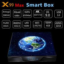 X99 Max TV-Box Android 9.0 4G+64G 4K S905X2 BT4.1 2,4G 5G WiFi Media Player L6F5