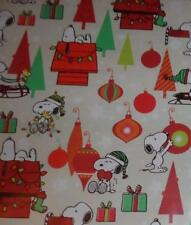 SNOOPY WOODSTOCK PEANUTS GIFT WRAP WRAPPING PAPER ROLL CHRISTMAS HOLIDAY 40 SQ F